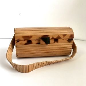 Vintage Bamboo Purse / Handbag